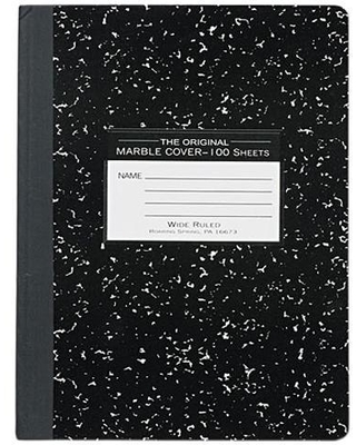 Roaring Spring 77230 Marble Cover Wide Rule Composition Book, 9-3/4 x 7-1/2, 100 Pages