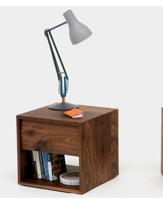 ARTLESS THN 1 Drawer Nightstand A-THN-.75 Color (Drawer): Walnut Drawer Location: Bottom