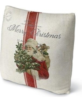 "The Holiday Aisle® Throw Pillow UIEB3284 Size: 16"" x 16"" Color: Ivory/ Red/ Green"