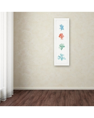 """Trademark Fine Art 32 in. x 10 in. """"Water Coral VII"""" by Lisa Audit Printed Canvas Wall Art, Multi"""