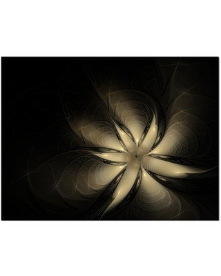 """East Urban Home 'Golden Flower' Graphic Art Print on Wrapped Canvas ETUC2721 Size: 30"""" H x 40"""" W x 1.5"""" D"""
