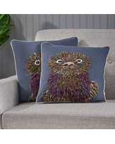 Sales Are Here 39 Off Ebern Designs Brittain Sloth Throw Pillow X112206416 Color Rose Smoke Gray