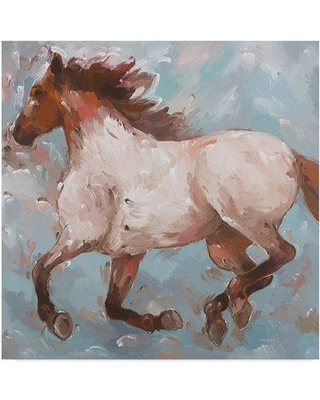 """Trademark Art 'Roan Runner' Acrylic Painting Print on Wrapped Canvas ALI35720-CGG Size: 35"""" H x 35"""" W x 2"""" D"""