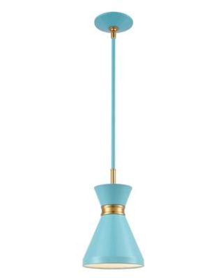 46523/1 Modley 1-Light Mini Pendant in Pastel Blue with