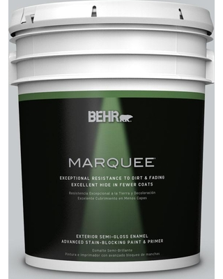 BEHR MARQUEE 5 gal. #PPU26-17 Fast as the Wind Semi-Gloss Enamel Exterior Paint and Primer in One