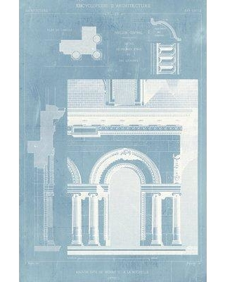 """East Urban Home 'Details of French Architecture I' Graphic Art Print on Wrapped Canvas ERNI3824 Size: 18"""" H x 12"""" W x 1.5"""" D"""