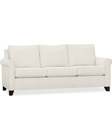 Cameron Roll Deluxe Sleeper Sofa Upholstered Deluxe Sleeper Sofa, Polyester Wrapped Cushions, Denim Warm White