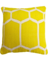 India's Heritage Cotton Woven Throw Pillow INHR1381 Color: Yellow