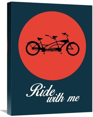 """Naxart 'Ride With Me Poster 1' Graphic Art on Wrapped Canvas GCS-45718 Size: 24"""" H x 18"""" W x 1.5"""" D"""