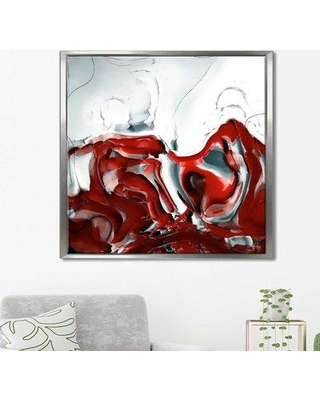 """Orren Ellis 'Exalted 1 Peter 5:6 Painted with Light' Framed Graphic Art Print on Canvas ORNL2167 Size: 27.5"""" H x 27.5"""" W"""