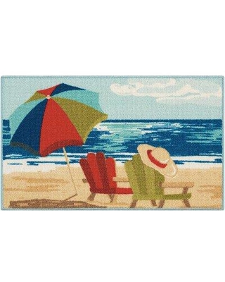Highland Dunes Cottone Hand-Tufted Blue/Red Area Rug HIDN3032