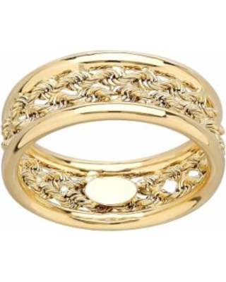 Everlasting Gold 10k Gold Double Rope Ring, Women's, Size: 7