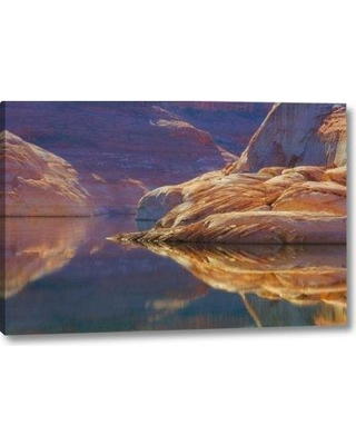 "Ebern Designs 'Utah Glen Canyon Abstract Reflection Sandstone' Photographic Print on Wrapped Canvas BI152907 Size: 11"" H x 16"" W x 1.5"" D"