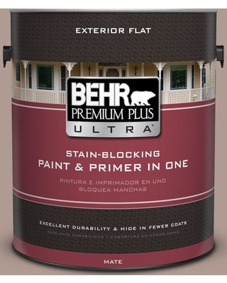 BEHR Premium Plus Ultra 1 gal. #N170-4 Coffee with Cream Flat Exterior Paint and Primer in One