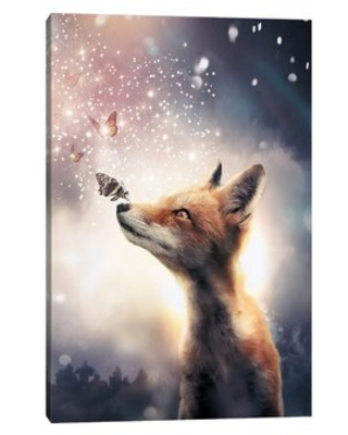 The Best Sales For Fox Butterflies By Zenja Gammer Graphic Art Print East Urban Home Size 26 H X 18 W X 1 5 D Format Wrapped Canvas