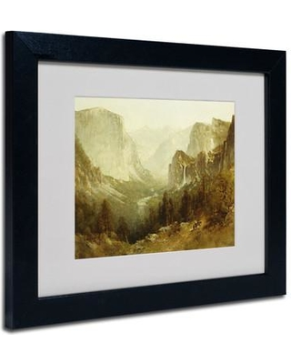 Trademark Art Hunting In Yosemite 1890 By Thomas Hill Framed Painting Print BL01362 Size