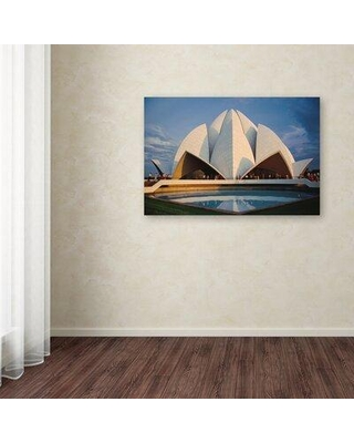 "Trademark Fine Art 'Temple' Photographic Print on Wrapped Canvas, Canvas & Fabric in Brown, Size 12"" H x 19"" W 