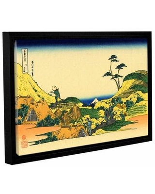 Check Out Deals On Vault W Artwork Shimomeguro By Katsushika Hokusai Framed Painting Print On Gallery Wrapped Canvas Canvas Fabric In Brown Yellow Wayfair