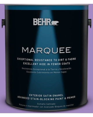 BEHR MARQUEE 1 gal. #P570-4 Classic Bouquet Satin Enamel Exterior Paint and Primer in One