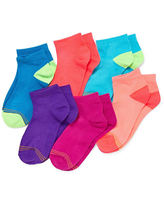 Gold Toe Little & Big Girls 6 Pair Quarter Socks, Large , Multiple Colors