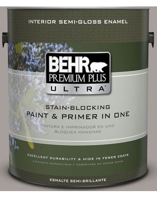 BEHR ULTRA 1 gal. #T16-18 Mauve Melody Semi-Gloss Enamel Interior Paint and Primer in One