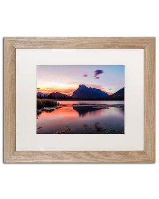 Trademark Fine Art 'Vermilion Lakes Sunrise' Matted Framed Art by Pierre Leclerc