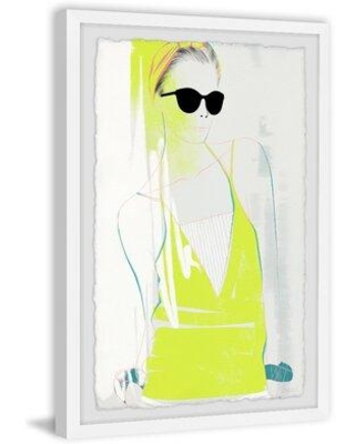 "House of Hampton® Neon fashion trend by House of Hampton® - Picture Frame Printon Paper, Paper in Brown/Blue/Green, Size 30"" H x 20"" W x 1.5"" D"