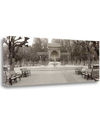 """Tangletown Fine Art 'Golden Gate Park Pano - 2' Photographic Print on Wrapped Canvas ICABSFH15-3412c Size: 13"""" H x 39"""" W"""