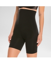 Assets by Spanx Women's Remarkable Results High Waist Mid-thigh Shaper - Black M