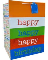 Happy Birthday Gift Bag - Spritz, Multi-Colored