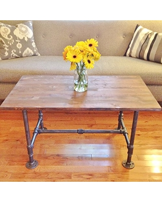 Pleasant Black Iron Industrial Vintage Style Steel Pipe Coffee Table From Amazon People Machost Co Dining Chair Design Ideas Machostcouk