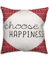 Ebern Designs Oquinn Choose Happiness Quote Arrows Throw Pillow BI016662