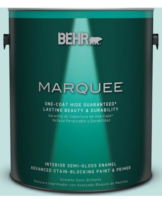 BEHR MARQUEE 1 gal. #T17-04 Peek a Blue Semi-Gloss Enamel Interior Paint and Primer in One