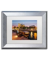 Amazing Savings On Trademark Fine Art Notre Dame De Paris In Colors Framed Photographic Print Canvas Fabric In Brown Blue Orange Size 16 H X 20 W X 0 5 D