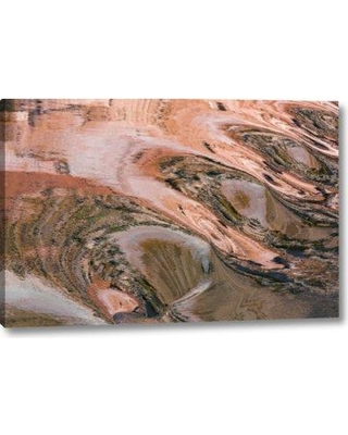 """Millwood Pines 'Utah Glen Canyon Reflection' Photographic Print on Wrapped Canvas BI152249 Size: 11"""" H x 16"""" W x 1.5"""" D"""