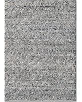 5'x7' Chunky Knit Wool Woven Rug Gray - Project 62