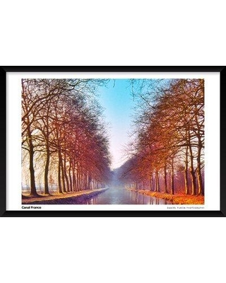 """Artography Limited 'Canal France' Framed Photographic Print Poster BF033265 Size: 25"""" H x 37"""" W x 1.25"""" D"""