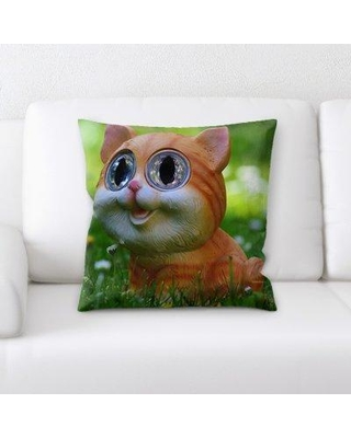 East Urban Home Cat Throw Pillow W000159375