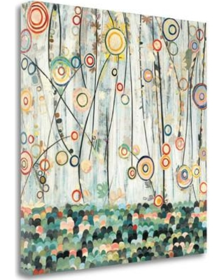 """Tangletown Fine Art 'Blooming Meadow' Graphic Art Print on Wrapped Canvas WA607761- Size: 30"""" H x 30"""" W"""