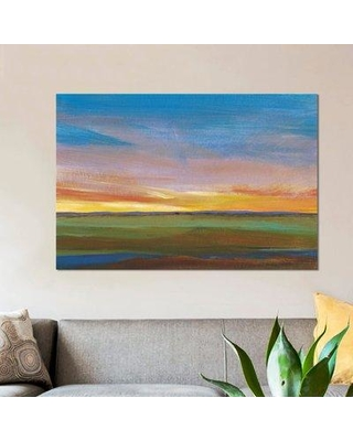 """East Urban Home 'Fading Light II' Painting Print on Wrapped Canvas ESUR2489 Size: 18"""" H x 26"""" W x 0.75"""" D"""
