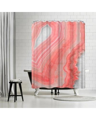 East Urban Home Emanuela Carratoni Painted Agate Shower Curtain ETRC7507