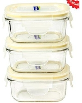Glasslock Yum Yum Rectangular Baby 0.675 Cup Food Storage Container GL543