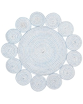 Get This Deal On Sema Hand Braided Blue Ivory Area Rug Bungalow Rose Rug Size Round 7