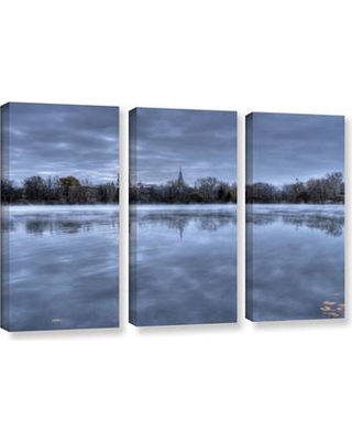 ArtWall The Basilica-Notre Dame by Dan Wilson 3 Piece Photographic Print on Wrapped Canvas Set 0wil025c3654w