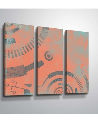 """East Urban Home 'Geometric 10' Graphic Art Print Multi-Piece Image on Canvas W000190352 Size: 24"""" H x 36"""" W x 2"""" D Format: Wrapped Canvas"""