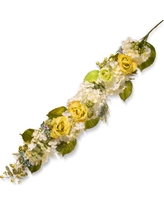 Artificial Spring Flowers Garland Yellow 48 - National Tree Company