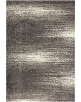 World Rug Gallery Florida Contemporary Ombre Abstract Shag Rug, Grey, 3X5 Ft