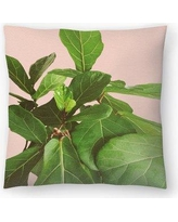 """East Urban Home Fiddle Leaf Fig Throw Pillow ETHF2711 Size: 14"""" x 14"""""""