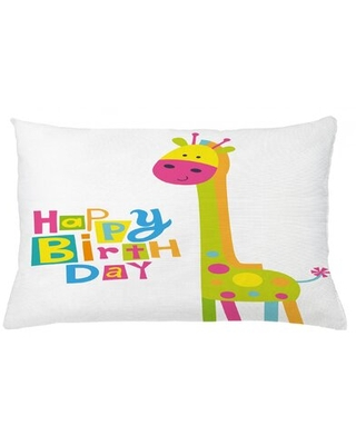 "Birthday Indoor / Outdoor Lumbar Pillow Cover East Urban Home Size: 16"" x 26"""