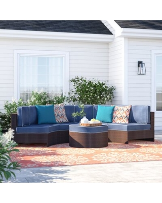 The Best Sales For Bermuda 5 Piece Rattan Sectional Seating Group With Cushions Sol 72 Outdoor